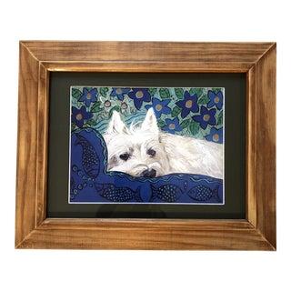 Westie Dog Terrier Print by Judy Henn For Sale