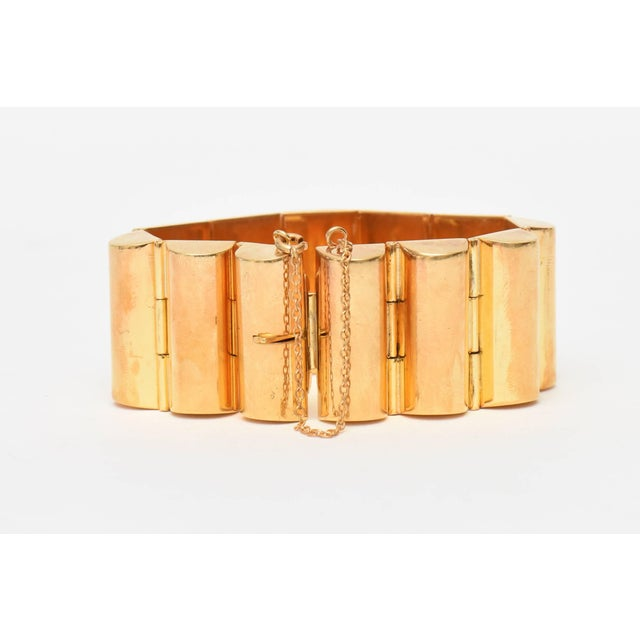 This classic and timeless chic real gold plated channeled cuff bracelet is for day or evening. It was made to look real....