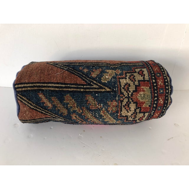 Antique Persian Rug Bolster Pillow Saliha by Design For Sale In New York - Image 6 of 6