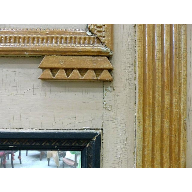Wood 18th Century Boiserie Panels Mounted as Trumeau Mirrors - A Pair For Sale - Image 7 of 11