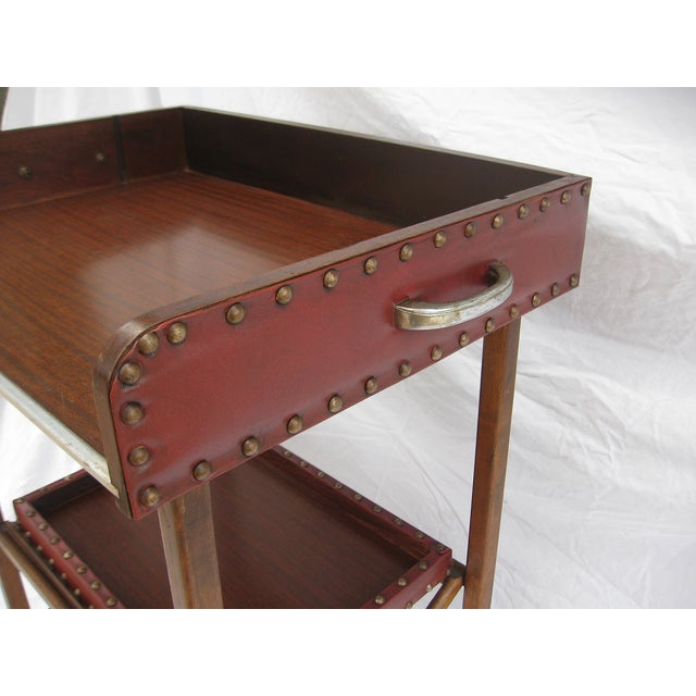Mid-Century Collapsable Bar Cart - Image 3 of 9