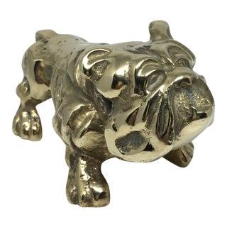 Vintage Brass Bulldog Figurine