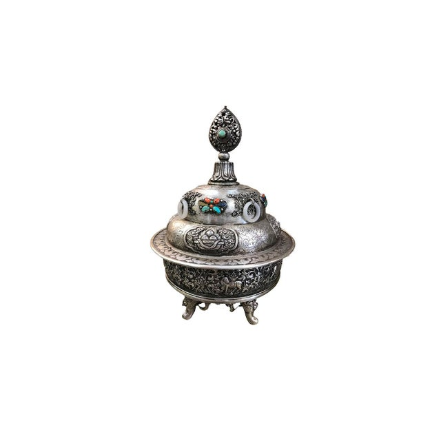 Asian 19th Century Mongolian Silver Censor For Sale - Image 3 of 5