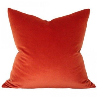Contemporary Rust Velvet Pillow Preview