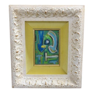 Contemporary Framed Abstract Oil Painting