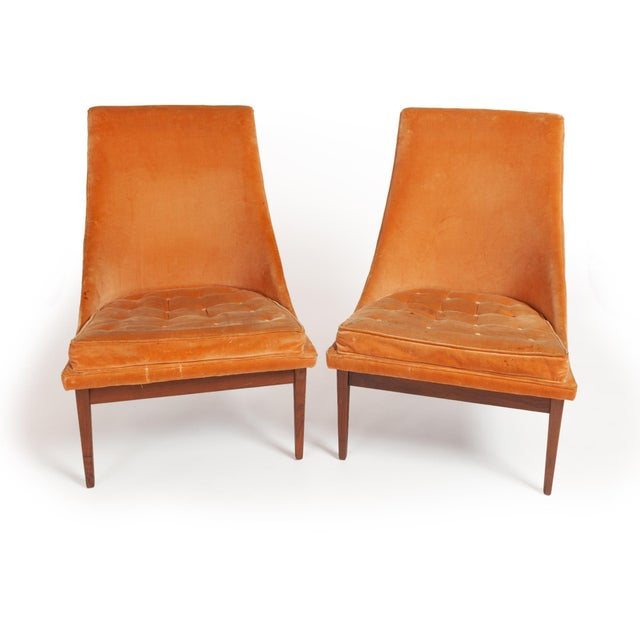 "Vintage Original Lawrence Peabody ""Slipper Chair"" for Richardsons / Nemschoff — Pair For Sale - Image 12 of 12"