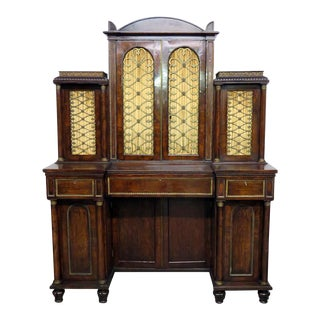 Antique Regency Rosewood Secretary Desk For Sale