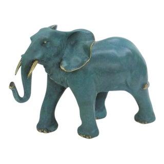 1980s Elephant Bronze Sculpture For Sale