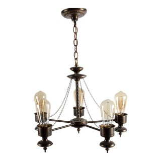 Vintage Phil Hinckley Gothic 5-Light Chandelier