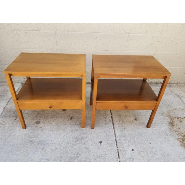 """A pair of nightstands designed by Paul McCobb for Winchendon Furniture Company. The """"Perimiter Group"""" circa. 1950's. Each..."""