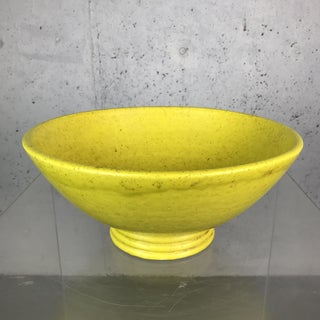 Large Stoneware Coupe Ceramic Bowl in Yellow Glaze by French Potter Edmond Lachenal Preview