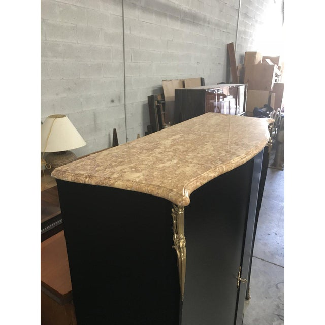 French 1910s French Louis XVI Dry Bar With Marble Top For Sale - Image 3 of 13