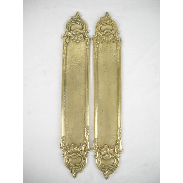 Brass Rococo-Style Door Push Plates - A Pair - Image 3 of 7