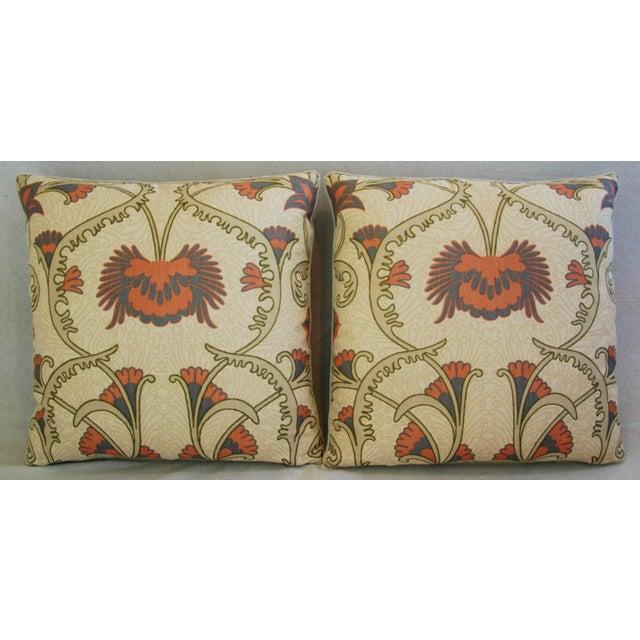 Art Nouveau Designer Home Couture Contessa Linen Pillows - A Pair For Sale - Image 3 of 10