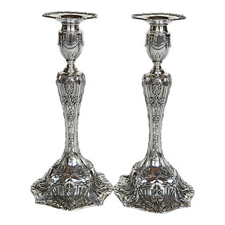 Dominick and Haff Neoclassical Sterling Candlesticks - A Pair