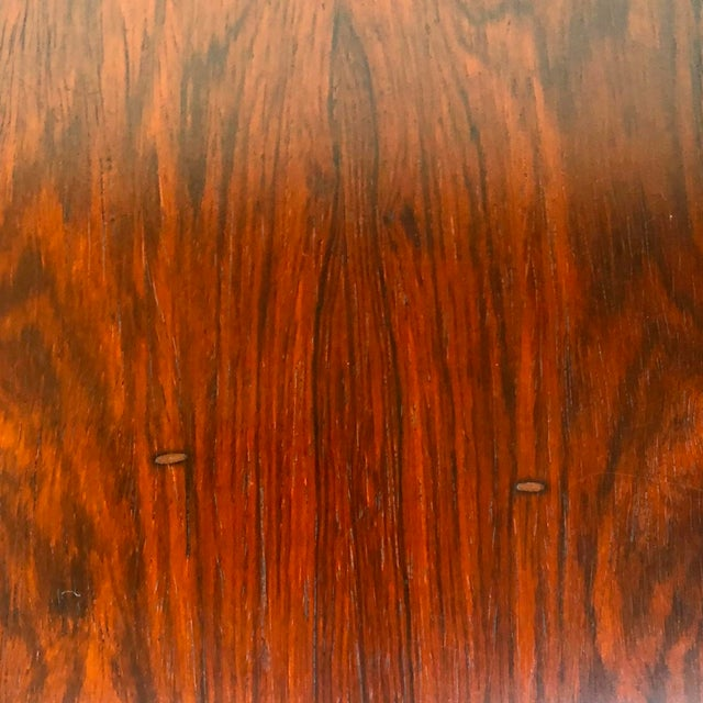Vintage Modern Rosewood and Chrome Coffee Table For Sale - Image 12 of 13