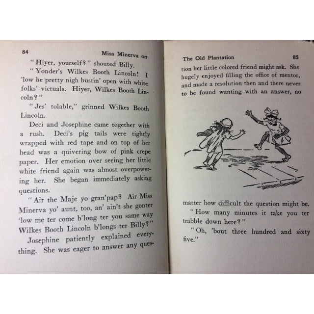 "Antique Children's Book: ""Miss Minerva on the Old Plantation"" Published 1923 - Image 6 of 7"