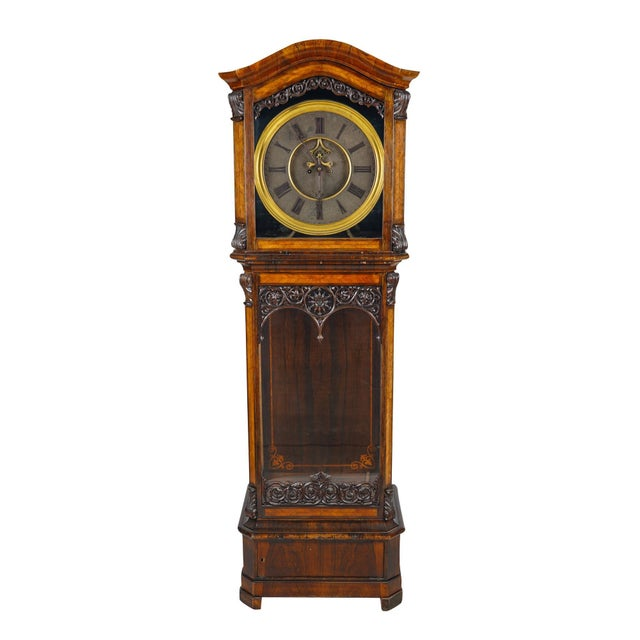 19th Century Austrian Baroque Style Tall Case Clock with Open Escapement For Sale - Image 9 of 9