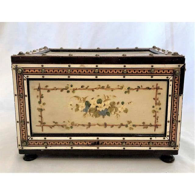 Antique Rosewood Humidor Box, Circa 1880.