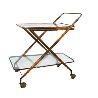 1950 Cesare Lacca Brass Serving Cart For Sale