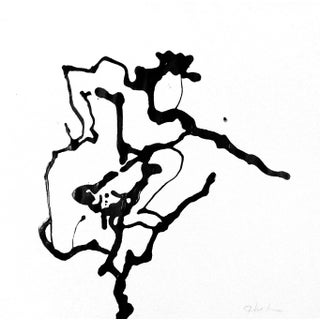 "Nude ""Fencing"" Ink Drawing Portrait For Sale"
