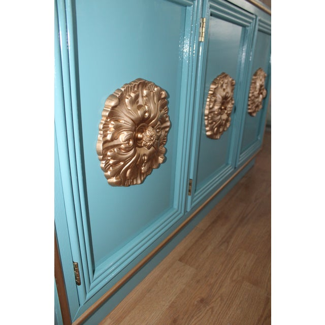 Hollywood Regency Lacquered Credenza or Sideboard For Sale - Image 9 of 11