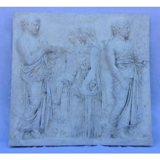Vintage Hollywood Regency Greco-Roman Sculptural Wall Art - Image 11 of 11