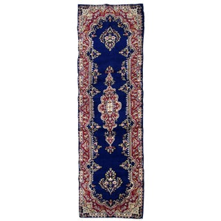 1930s, Handmade Antique Persian Kerman Runner 2.5' X 8.1' For Sale