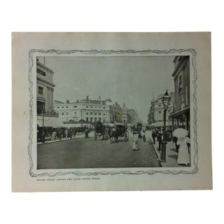 """1906 """"Oxford Circus - Looking East Along Oxford Street"""" Famous View of London Print For Sale"""