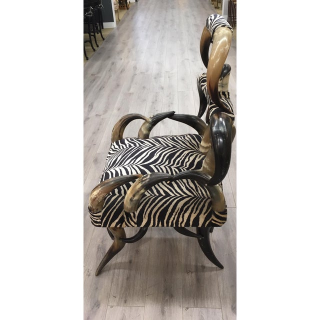 Zebra Horn Chair For Sale - Image 4 of 6