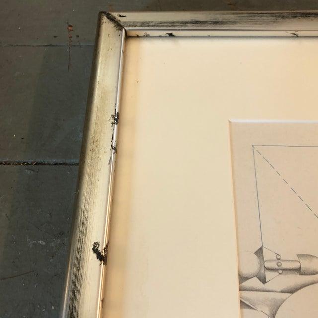 1960s Richard Lindner 1960's Surrealist Lithograph Man & Dog Signed Framed For Sale - Image 5 of 7