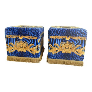 1990s Versace Baroque Ottomans - a Pair For Sale