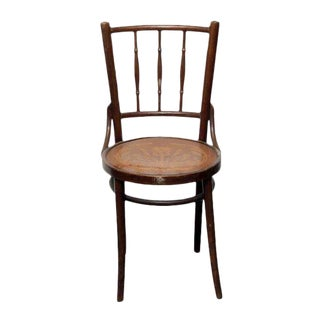 Thonet Wood Chair With Decorative Seat