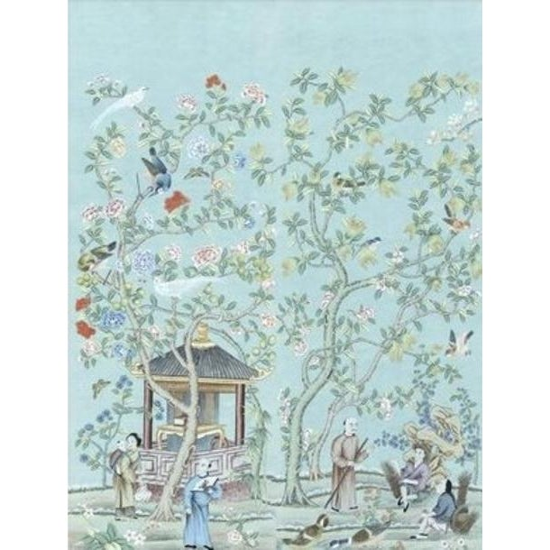 """Asian Casa Cosima Arden Diptych Mural - 2 Panels 72"""" W X 96"""" H For Sale - Image 3 of 3"""