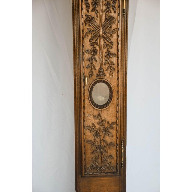 Carved 18th C French Lantern Clock Case With Movement For Sale - Image 4 of 13