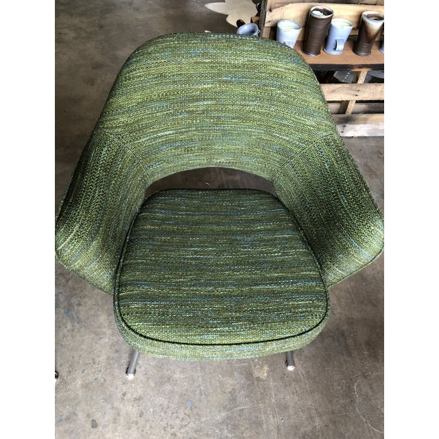 Green Saarinen for Knoll Executive Armchairs - A Pair For Sale - Image 9 of 10