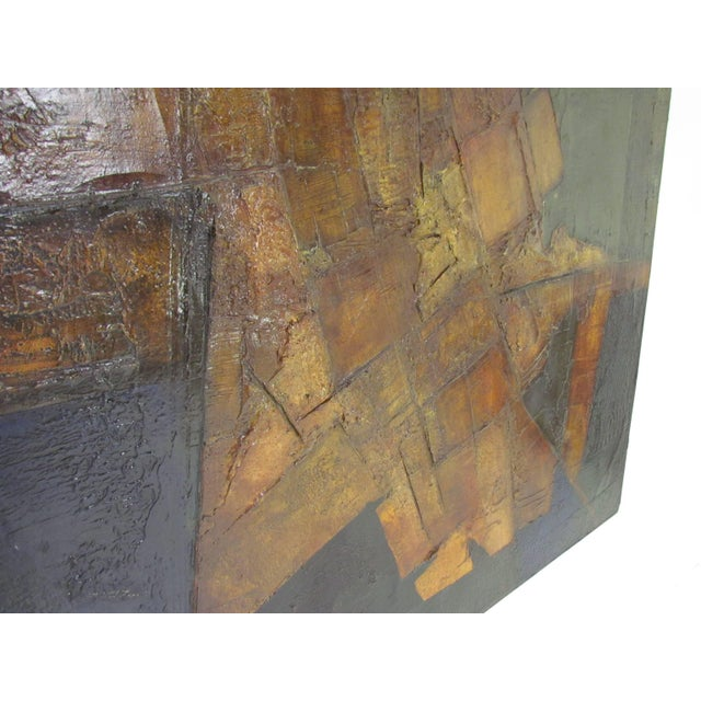 Brutalist Abstract Modernist Painting by Berkshire Artist John Stritch, 1963 For Sale In Boston - Image 6 of 10