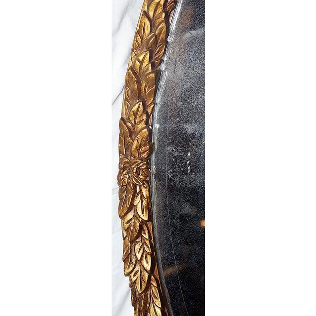Oval Gilt Wood Mirror - Image 6 of 8