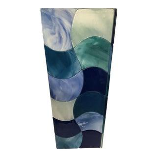 Italian Glass Vase by Sebino Arte For Sale