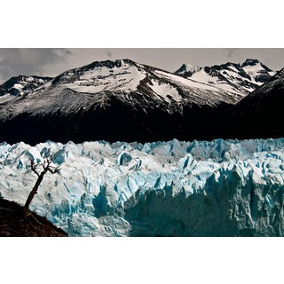 Patagonia #103, Iceberg, Limited Edition Photograph, Blue, Black, Antarctica For Sale
