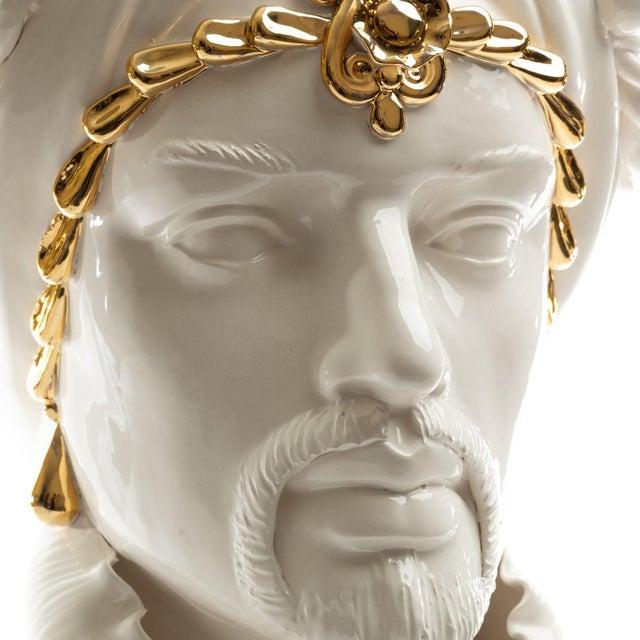 24 Karat Gold Sicilian Gigante Head, Schittone Modern Moro For Sale In San Francisco - Image 6 of 10