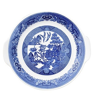 Willow Ware Royal Blue & White Plate For Sale