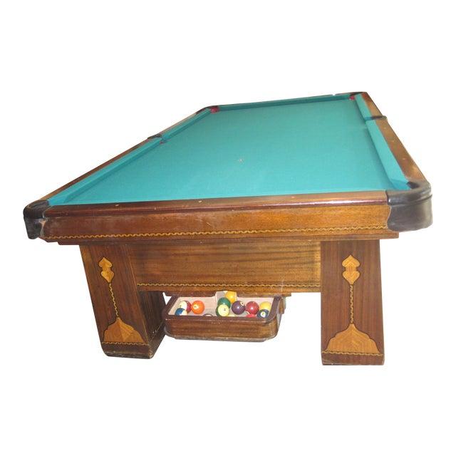 Vintage Brunswick Balke Collender Co Monarch Cushions Pool Table - Brunswick monarch pool table value