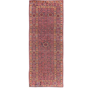 Rare 19th Century Antique Beshir Long Gallery Rug in Unique Colors. For Sale