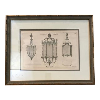 Set of Four Chippendale Framed Design Book Engravings, circa 1760