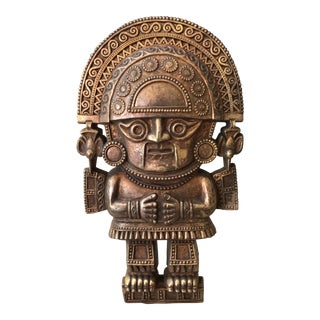 Vintage Mayan Syroco Wall Hanging Plaque For Sale
