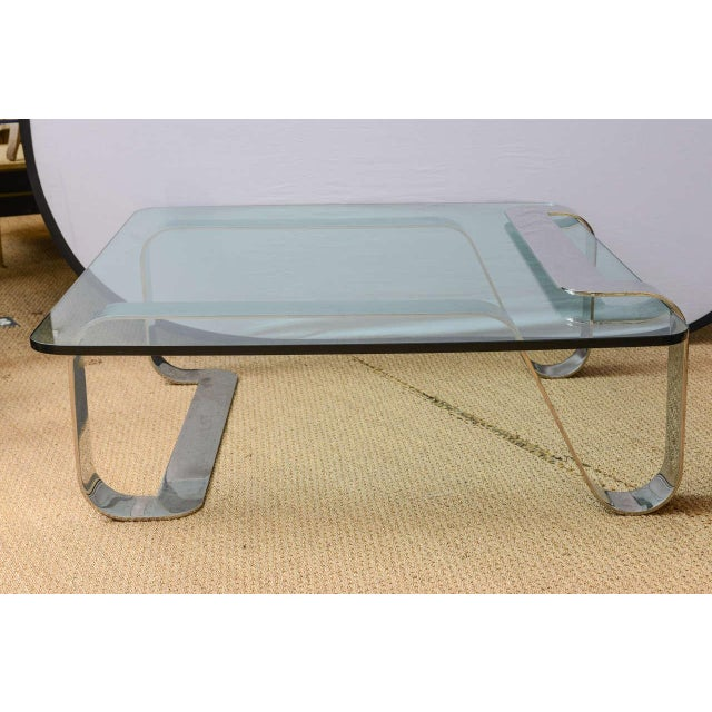 """Modern Rare and Sculptural Gary Gutterman """"Odyssey"""" Coffee Table in Polished Steel For Sale - Image 3 of 10"""