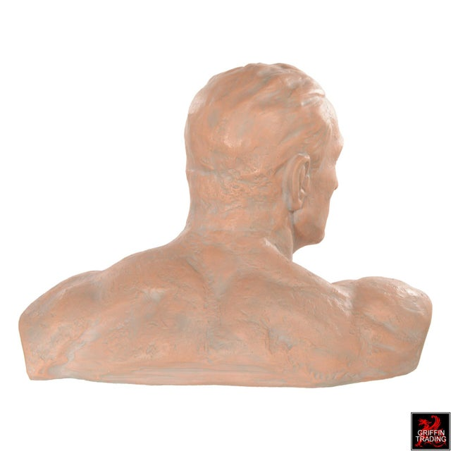 Terracotta Bust of a Man For Sale - Image 4 of 10
