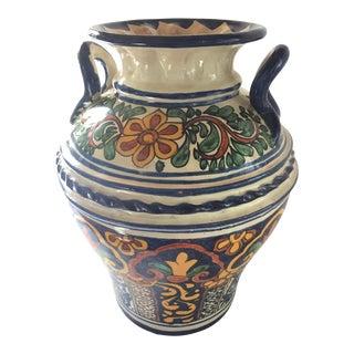 Vintage Talavera Round Vase For Sale