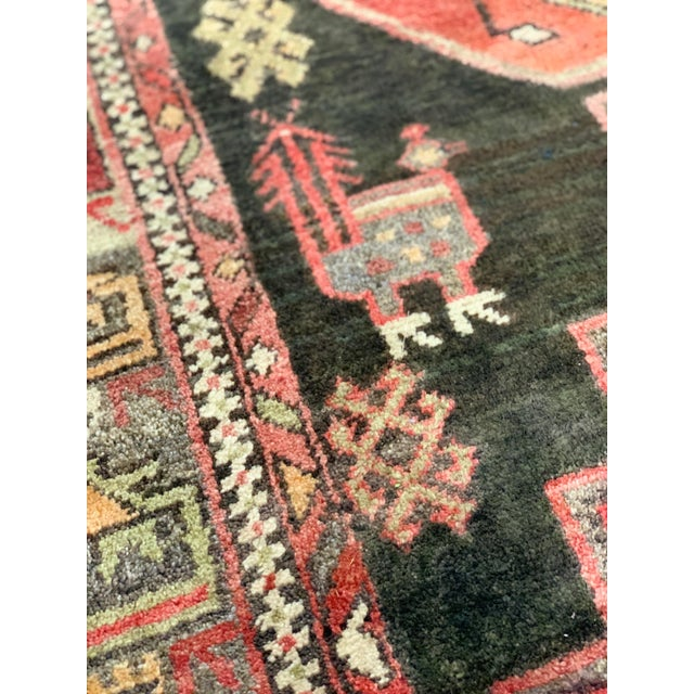 1950s Vintage Persian Runner Rug - 3′4″ × 9′ For Sale In Atlanta - Image 6 of 13
